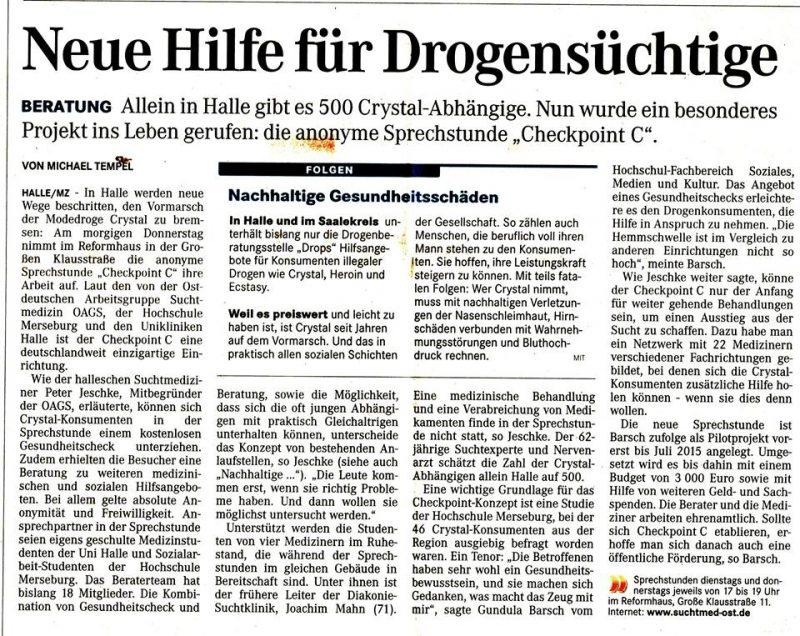ein weiterer Artikel in der Mitteldeutschen Zeitung